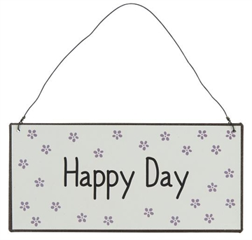 "Ib Laursen Metalskilt ""Happy day"""